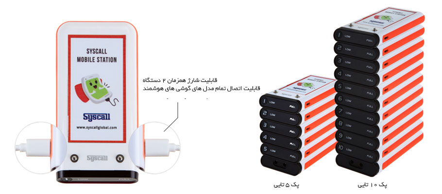 Smartphone charger mobile station pc-100