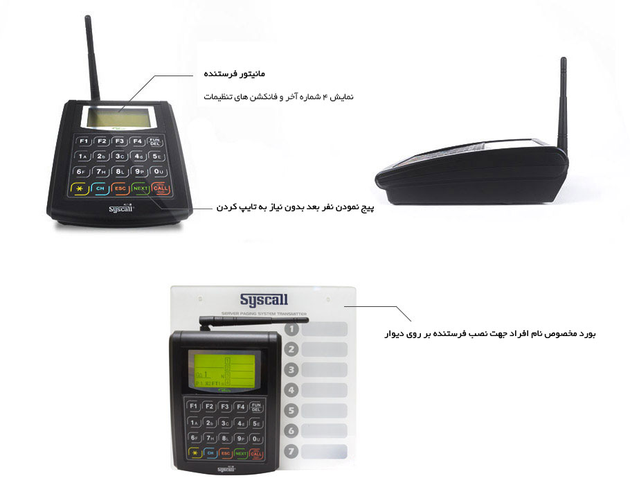 Wireless Server paging system